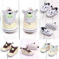 Baby Girl Boy Cute Cartoon Cotton Sneakers Soft Sole Crib Shoes Prewalkers 0-12M