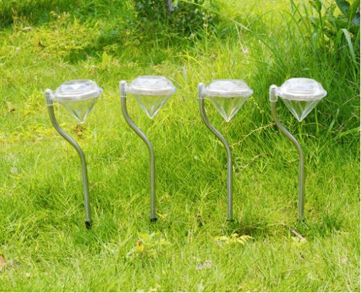 Waterproof Outdoor Solar Power lawn lamps LED Spot Light Garden Path Stainles Steel Landscape Lighting Solar Garden Decoration(China (Mainland))