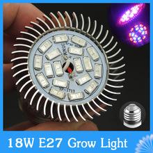 Spettro completo principale coltiva la luce 18 w e27 smd 5730 18 led per la serra la fioritura delle piante e sistema di coltura idroponica in crescita box  (China (Mainland))