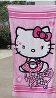 3PC/LOT Free Shipping 170x50CM Kid Hello Kitty Face Bath Towel Cotton Cartoon Girl Adult Men Soft Face Towel KT165