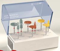 Dental lab non-precious metal polishing kit - for dental low-speed straight handpieces use - 9  pcs