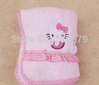 3PC/LOT Free Shipping 54x24CM Kid Hello Kitty Face Bath Towel Cotton Cartoon Girl Adult Men Soft Face Towel KT164