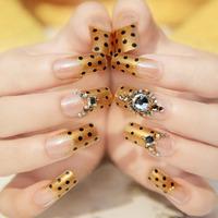 Very irresistible gold false nails art decoration,woman false nails manicure art ornament display,4.20820.Free shipping