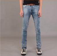 New fashion 2015 casual Retail Men's  jeans Ultra thin Slim long pants free shipping