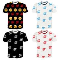 Top Hot design 100points 3d tshirt men/women short sleeve o neck casual t shirt print tee size M-XXL free ship