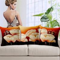Europe Style Floral Print Cushion Covers For Sofa Decorative Cushion Case 45*45cm Cotton Linen Car Seat Pillow Cover SMC286T
