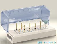 Dental ceramic veneering teeth preparaton kit - for high-speed straight handpieces use - High temperature sterilization bracket