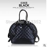 Free shipping 2015 European and American Hot , lozenge cowhide leather shell bag hand diagonal handbags