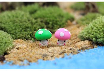 1 шт. гриб мини растения 2 * 2 см миниатюры волшебный сад гном мосс террариум домашнего декора ремесла бонсай домашнего декора для DIY