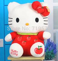 Freeshipping sitting height 20cm hello kitty plush toys cartoon hello kitty toy doll for children 2-10yrs KT150