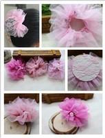 Korean children hair accessories \ headdress \ young children baby lovely princess lace hairnet Wangdou   Hairnet the string bag
