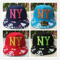 NY hat new Korean casual fashion tide Ms. flat brimmed hat hip hop cap pattern 4 color