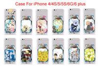 10PCS For iPhone 4/4S/5/5S/6G/6 plus Case Newest Cute Bottle Style Cartoon Pikachu Clear Transparent Hard Plastic Capa covers