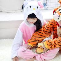 2015 Long-sleeved Flannel Nightgown Pajamas Siamese Onesies Animal Autumn And Winter Plush Boys And Girls Kids Onesies Sleepwear