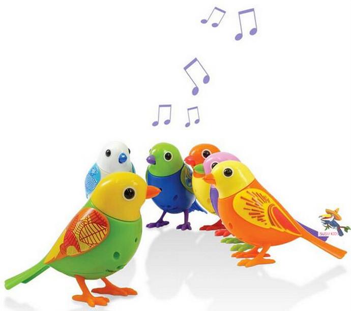 Atacado Digi pássaros cantam música inteligente brinquedos digibirds para crianças animais de estimação exóticos aves brinquedos eletrônicos presente de ano novo(China (Mainland))