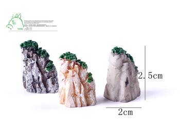 Продажа 1 шт. скала 2.5 см мини хиллз миниатюры волшебный сад гном мосс террариум домашнего декора ремесла бонсай домашнего декора для DIY