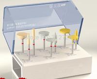 Dental lab zirconia polishing kit - 9 pieces - Super good quality