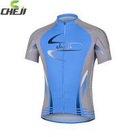CHEJI brand classic sail blue outdoor mountain road bike cycling shirt with short sleeves sportswear
