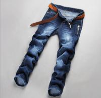 Men's fashion jeans long pants casual pants pencil pants denim brand new 2015