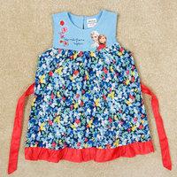 2015 New Summer Girls Sister Princess dress 100% Cotton Baby King & Queen dress Kids Cake dresses Children Cartoon Clothing