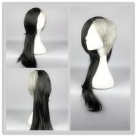 Tokyo Ghoul Mr. Bai Uta Cos Wig Black Grey Mixed Straight LONG  75cm Hair Anime Cosplay Wigs