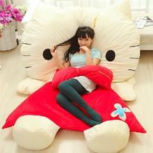 Luxo gigante dos desenhos animados Anime olá Kitty brinquedos de pelúcia para as crianças Kawaii Nano boneca crianças brinquedo macio ursos de pelúcia bichos de pelúcia natal(China (Mainland))