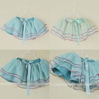Wholesale girls spring summer fashion tutu skirt kids princess skirt with bow 1159