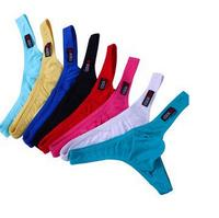 New 2015 Sexy Low Waist U Bag Male Panties Cotton Male Thong T Men Briefs Underwear Gift Drop shipping