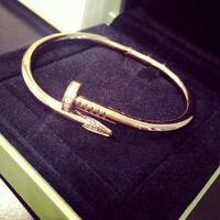 C family classic rose gold created diamond bracelet nails