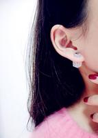 High-end custom strobe Shih-sided created diamond earrings earring box