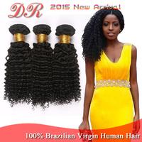 Unprocessed 6A Grade Brazilian Virgin Hair 3 bundles a lot Kinky Curl Cheap Wholesale Virgin Brazilian Hair Weave Natural color