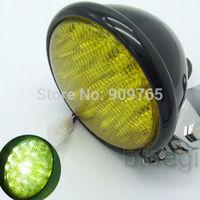 "Motorcycle Black 5"" LED Headlight Head Lamp For Harley Honda Yamaha Universal"