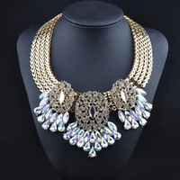 N00214 2014Newest Brand luxury unique necklaces & pendants collar Vintage fashion chunky choker statement necklace women jewelry