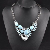 B N00584 2014 Newest Brand chain necklaces & pendants collar Vintage fashion chunky choker statement bib necklace women jewelry