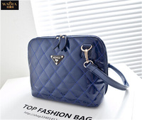 European And American Style 2015 New Hot Women Messenger Bags Fashion PU Leather Plaid Zipper Casual Brief Single Shoulder Bags