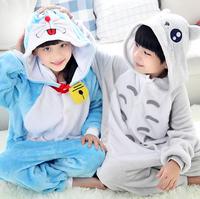 Children Flannel Pajamas Animal Onesies Sleepwear Autumn And Winter Long-sleeved Tracksuit Plush Cartoon Baby kids Onesies