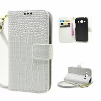 Luxury Crocodile Grain PU Wallet With Card Holder Leather Flip Case For Samsung Galaxy Ace Style LTE G357F