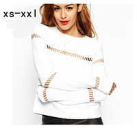 XS-XXL New Arrived Shirt Of Women Fashion Spring And Summer Cutout Long-sleeve T-shirt Back Zipper Casual Shirt