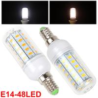 Warm White / White Light E14 15W 220-240V 48 x 5730 SMD LED Corn Bulb Suit for Wall Lamp / Down Lamp