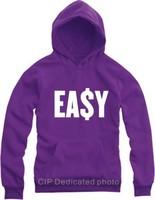 2015 Easy Money Printed Men's Fleece Hoodies Men Hip Hop Basketball Hoodie Man Sports Sweatshirts Thicken Winter Clothing