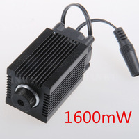 1600mW blue-violet laser modules Lens with holder Heat sink for mini laser engraving machine high-power wave length 450nm focus