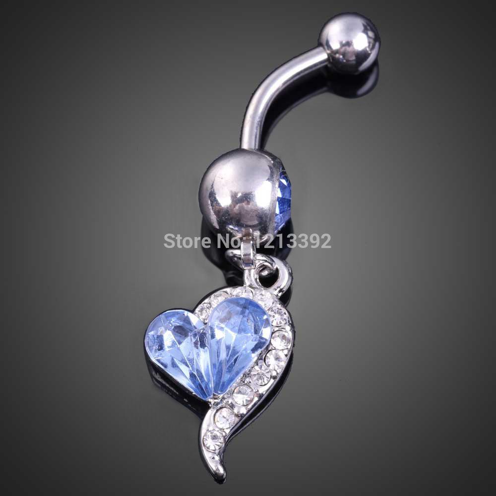 Светло-Голубой Великолепный Сердце Кулон Леди Пупка Кольца Кристалл Бусы BS88 бусы из аметиста леди 2