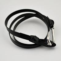 Wholesale 20 pcs/lot silver tone Black leather multi layer adjustable Rope Chain Fish Hook charm bracelet