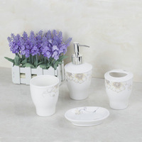 Fashion Special Designed 4PCS Ceramic Bathroom Accessory Soap Dispenser Tumbler MF-1167 Soap Dish Toothbrush Holder