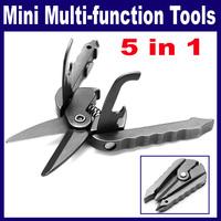 3 pcs/Lot  _ 5 in 1 Multi-function Practical Mini Scissors Screwdriver Can Bottle Opener Tools Set