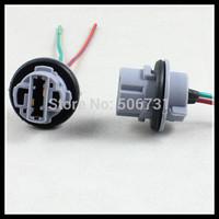 100pcs 7440 T20 LED bulb socket adapters Heat Resistance connector 7440 LED lamp holder socket Wiring Harness Socket Plug