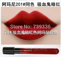 28 # Vampire dark matte lip gloss Matte velvet matte lip gloss glaze 1-36 purple color nude color lipstick stick Cup
