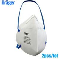 2 Pcs/lot drager original disposable masks particulate respirator anti-fog/haze/PM2.5 mask headband 1190 free ship ZSY012904