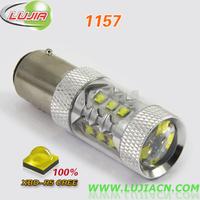 Free shipping 2pcs/lot High Power 80W 1157 16pcs*5w CREE XBD LED Car Signal Tail Turn Backup Reverse Light Bulb P21W BAY15d LED
