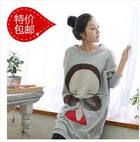 Maternity clothing autumn spring maternity t-shirt pregnant top cartoon long-sleeve o-neck comfy warm fashion shirt